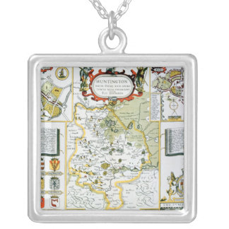 Huntington, engraved by Jodocus Hondius Silver Plated Necklace