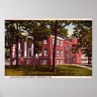 Huntington Indiana Old Huntington County Hospital Poster