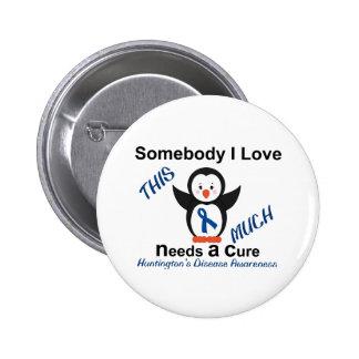 Huntington's Disease Awareness Someone I Love 6 Cm Round Badge