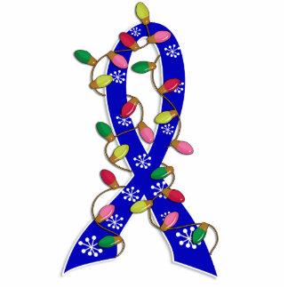 Huntington's Disease Christmas Lights Ribbon Standing Photo Sculpture