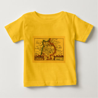 """Huntingtonshire"" Huntingdonshire County Map Baby T-Shirt"