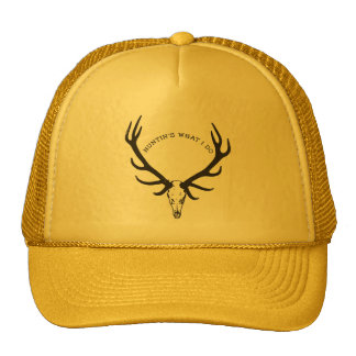 Huntin's What I Do - Skull with Rack deer / elk Cap
