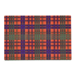 Huntly clan Plaid Scottish tartan Laminated Place Mat