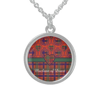 Huntly clan Plaid Scottish tartan Sterling Silver Necklace