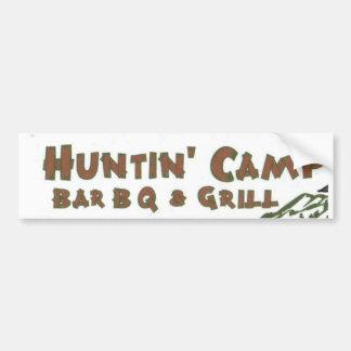 Huntn' Camp BarBQ & Grill Bumper Sticker