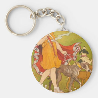 Huntress and Dogs Key Ring