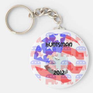 Huntsman 2012 basic round button key ring