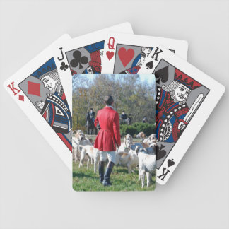 Huntsman and his hounds opening day card deck