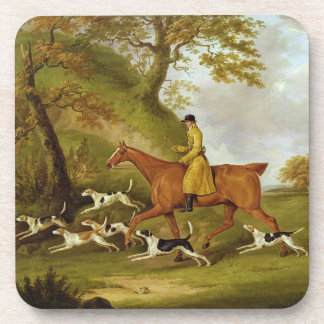 Huntsman and Hounds 1809 oil on canvas Beverage Coasters