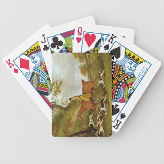 Huntsman and Hounds, 1809 (oil on canvas) Deck Of Cards