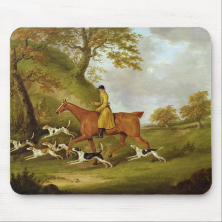 Huntsman and Hounds, 1809 (oil on canvas) Mouse Mat