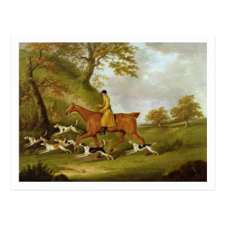 Huntsman and Hounds, 1809 (oil on canvas) Postcard
