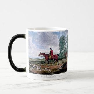 Huntsman to his majestys harriers magic mug