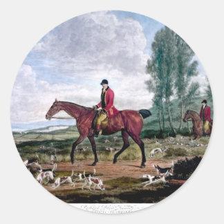 Huntsman to his majestys harriers round sticker