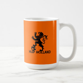 Hup Holland - Black Dutch Soccer Lion Basic White Mug