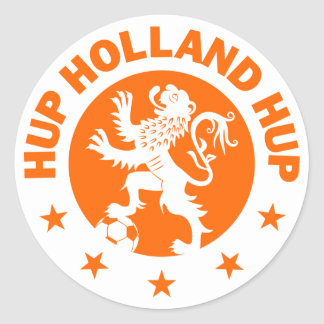 Hup Holland - Editable Background color Classic Round Sticker