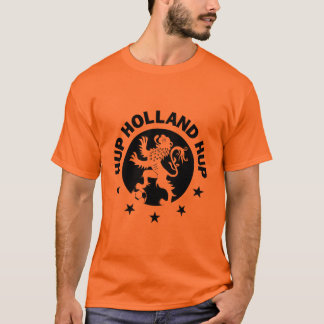 Hup Holland T-Shirt - Black Dutch Soccer Lion!