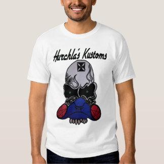 Hurchla's Kustoms skull front T-shirt