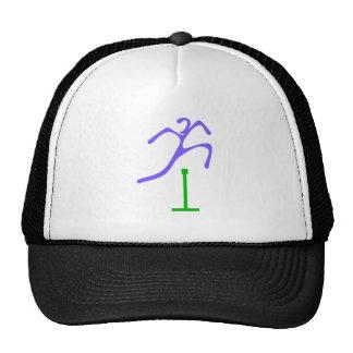 Hurdle runner more hurdler trucker hat