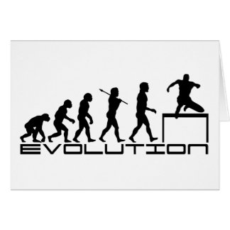 Hurdle Track and Field Sport Evolution Art Card