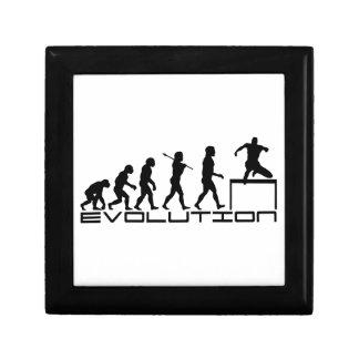 Hurdle Track and Field Sport Evolution Art Small Square Gift Box