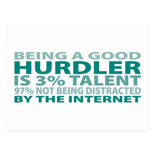 Hurdler 3% Talent Postcard
