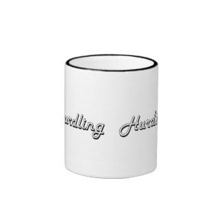 Hurdling Classic Retro Design Ringer Mug