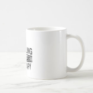 HURDLING It Is Cheaper Than Therapy Basic White Mug