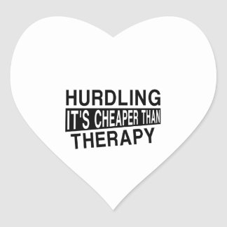 HURDLING It Is Cheaper Than Therapy Heart Sticker