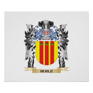 Hurle Coat of Arms - Family Crest Poster