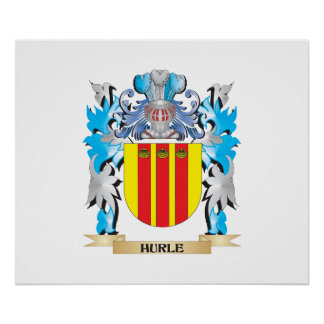 Hurle Coat of Arms - Family Crest Print