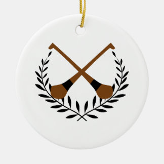 Hurling Wreath Round Ceramic Decoration