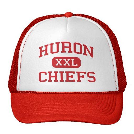 Huron - Chiefs - High School - New Boston Michigan Trucker Hats