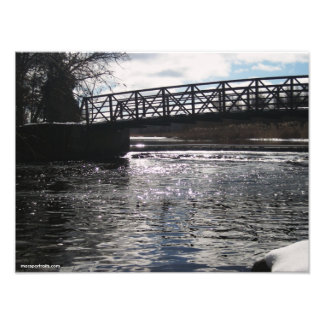 Huron River Bridge Photograph