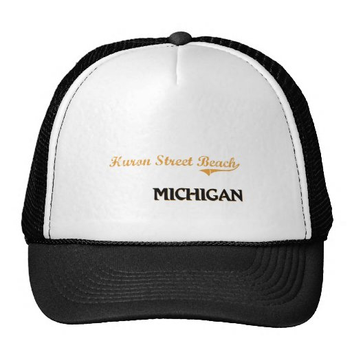 Huron Street Beach Michigan Classic Trucker Hats
