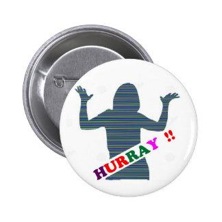 HURRAY :  Celebration Art n Text  ENJOY 6 Cm Round Badge