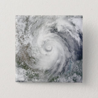 Hurricane Alex over the western Gulf of Mexico 15 Cm Square Badge