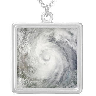 Hurricane Alex over the western Gulf of Mexico Silver Plated Necklace