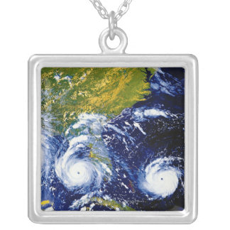 Hurricane Andrew Silver Plated Necklace