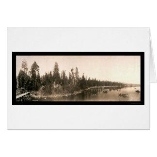 Hurricane Bay Tahoe Photo 1908 Card