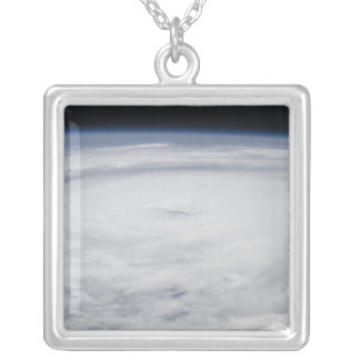 Hurricane Bill in the Atlantic Ocean 2 Silver Plated Necklace
