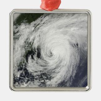 Hurricane Bill over Nova Scotia Silver-Colored Square Decoration