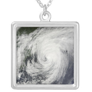 Hurricane Bill over Nova Scotia Silver Plated Necklace