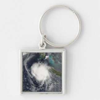 Hurricane Charley 2 Silver-Colored Square Key Ring