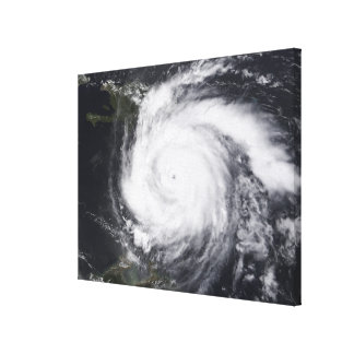 Hurricane Dean in the Atlantic and Carribbean Canvas Print