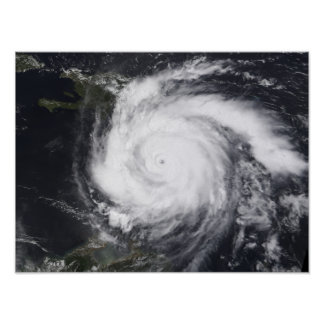 Hurricane Dean in the Atlantic and Carribbean Poster