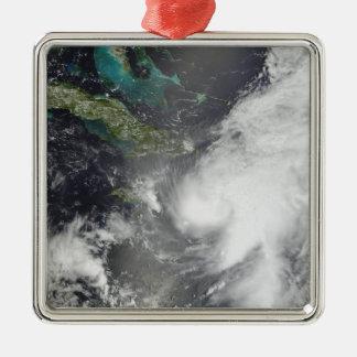 Hurricane Ernesto Silver-Colored Square Decoration