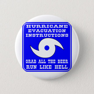 Hurricane Evacuation Instructions Plan 6 Cm Round Badge