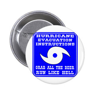 Hurricane Evacuation Instructions Plan 6 Cm Round Badge