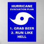 Hurricane Evacuation Plan 1. Grab Beer 2. Run Like Posters
